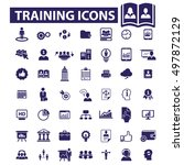 training icons | Shutterstock .eps vector #497872129