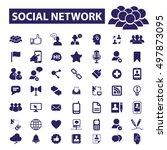 social network icons | Shutterstock .eps vector #497873095
