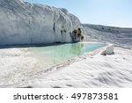 Blue Pool And White Travertine...