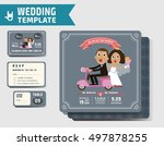set of wedding invitations... | Shutterstock .eps vector #497878255