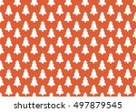 pattern for wrapping paper.... | Shutterstock . vector #497879545