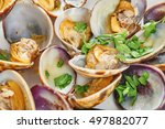Steamed Clams Close Up