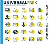 set of 25 universal icons on... | Shutterstock .eps vector #497886535