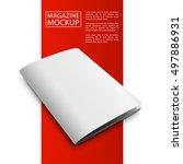 blank magazine mockup template. ... | Shutterstock .eps vector #497886931