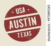 grunge vintage round stamp with ... | Shutterstock .eps vector #497889265