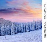Winter Landscape Glowing By...