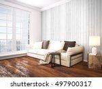modern bright interior . 3d... | Shutterstock . vector #497900317
