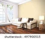 modern bright interior . 3d... | Shutterstock . vector #497900515