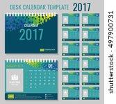 desk calendar template for 2017 ...   Shutterstock .eps vector #497900731