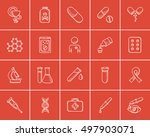 medicine sketch icon set for... | Shutterstock .eps vector #497903071