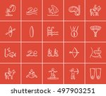 sport sketch icon set for web ... | Shutterstock .eps vector #497903251