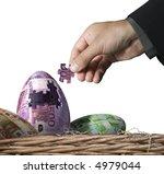 European union money theme - stock photo