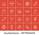 healthy food sketch icon set... | Shutterstock .eps vector #497904454