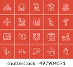 family sketch icon set for web  ... | Shutterstock .eps vector #497904571
