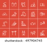 industry sketch icon set for... | Shutterstock .eps vector #497904745