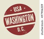 grunge vintage round stamp with ... | Shutterstock .eps vector #497906209