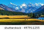 the mountain and prairie | Shutterstock . vector #497911255