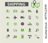 shipping icons  | Shutterstock .eps vector #497912599
