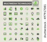 multimedia technology icons  | Shutterstock .eps vector #497917081