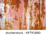 rusty door detail with color...   Shutterstock . vector #49791880
