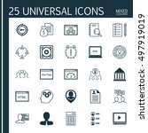 set of 25 universal icons on... | Shutterstock .eps vector #497919019