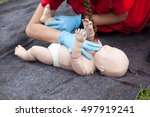 baby cpr dummy first aid... | Shutterstock . vector #497919241
