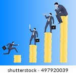 hierarchy concept. different... | Shutterstock .eps vector #497920039
