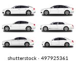 realistic car. sedan set | Shutterstock .eps vector #497925361