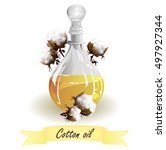 cottonseed oil. hand drawn... | Shutterstock .eps vector #497927344