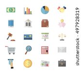 flat color icons design for... | Shutterstock .eps vector #497928319