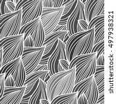 delicate floral background ... | Shutterstock .eps vector #497938321