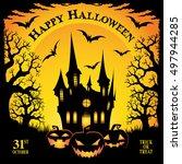 halloween. trick or treat....   Shutterstock .eps vector #497944285