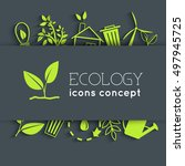 flat eco background concept.... | Shutterstock .eps vector #497945725