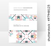geometric background template... | Shutterstock .eps vector #497948125