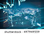 data analyzing in forex market... | Shutterstock . vector #497949559