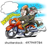 its mom there runs the... | Shutterstock . vector #497949784