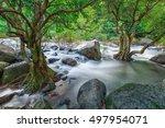 nang rong waterfall at nakorn...   Shutterstock . vector #497954071