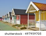 Colourful Painted Beach Huts A...