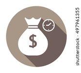 money icon. flat design.