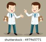 smart doctor presenting in... | Shutterstock .eps vector #497965771