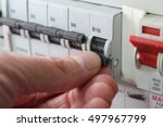 switching an mcb  micro circuit ... | Shutterstock . vector #497967799