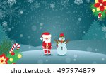 winter background for your... | Shutterstock .eps vector #497974879