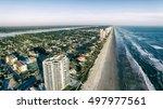 Aerial view of Daytona Beach coastline, Florida.