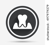 parodontosis tooth icon.... | Shutterstock .eps vector #497979379