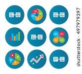 business pie chart. growth...   Shutterstock .eps vector #497979397