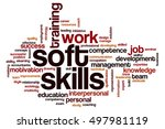 soft skills word cloud concept | Shutterstock . vector #497981119