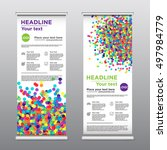 rollup business brochure flyer... | Shutterstock .eps vector #497984779