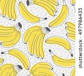 fresh bananas hand drawn... | Shutterstock .eps vector #497986435