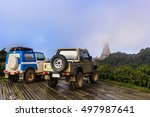 the off road cars in car park ... | Shutterstock . vector #497987641