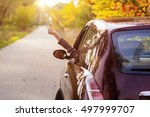 freedom car travel concept  ... | Shutterstock . vector #497999707